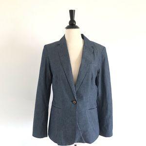 DALIA ladies chambray blazer -size Medium